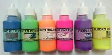 6 X Neon Pigment Colours - Liquid 30ml: Soaps, Bath, Crafts. Aust, Non bleeding