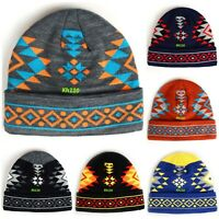 Southwest Native American Indian Navajo Print Knit Cuffed Beanie