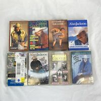 Alan Jackson Cassette Tape Lot Of 8 Different Cassettes Jeff Foxworthy Country
