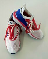 Puma Evoknit Ignite Sneakers Womens White Blue Red Lace Tight US 8 EU 38.5 New