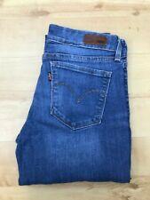 Women's Levi's Demi Curve Modern Rise Skinny Blue Jeans W28 L33 (#A663)