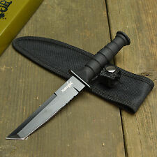"""7 1/2"""" Tactical Combat Survival Tanto Black Fixed Blade Knife With Sheath New!"""