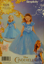 """Simplicity 1028 CINDERELLA PATTERN for Girls (3-8) & Doll fits 18"""" AMERICAN GIRL"""