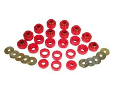 Prothane 87-96 Jeep Wrangler YJ Body Mount Bushings Kit Red Poly 22 Piece 1-105