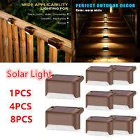 8x LED Solarleuchte Gartenleuchte Zaunleuchte Wandleuchte Wegbeleuchtung Treppen