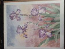 """Elaine Neeley """"Irises"""" S/N Limited Edition Prints #'s 22 & 23 of 2000"""