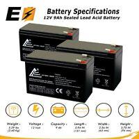 ExpertBattery 12V 9AH Sealed Lead Acid Batteries (3 Pack)