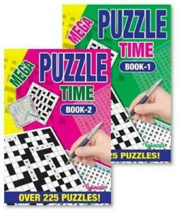 Puzzle Time Word search & Crosswords Activity A5 Books - 225 Puzzles Books 1 & 2