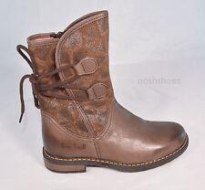 Bo-bell Girls Pillow Brown Leather Zip Boots UK 2.5 EU 35 US 3 RRP £72.00