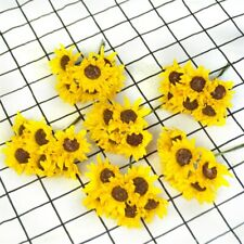 Handmade Paper Artificial Sunflower Flower Bouquet For Wedding home Decoration