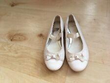 Girls Clark's white ballet style shoe size11F
