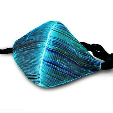 Fiber Optic Mask LED Color Changing USB Rechargeable Glowing Face Cover