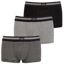 Jockey USA Originals Cotton Stretch Short Trunk 3pkt- Black Stripe - 17302913 L