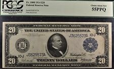 Fr.1000 1910 $20 FRN Kansas City PCGS 55PPQ