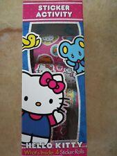 Hello Kitty Sticker Activity Set! 4 rolls! Kids Girls Metallic Shiny Birthday
