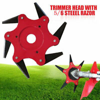 Trimmer Head 5/6 Steel Blades Razors 65Mn Lawn Mower Grass Weed Eater Brush Cut