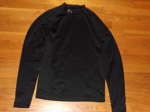 UNDER ARMOUR COLDGEAR LONG SLEEVE BLACK MOCK COMPRESSION JERSEY MENS SMALL EXC.