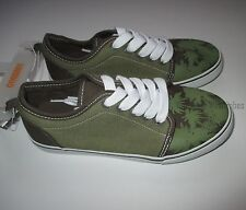 Gymboree Jungle Explorer Green Palm Sneaker Tennis Shoes Youth Boys 12 NEW NWT