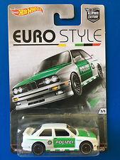 RARE 2016 Hot Wheels Car Culture EURO STYLE 1992 BMW E-30 M3 GERMAN POLICE CAR