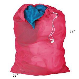Mesh Laundry Bag- College- Dorm- Laundromat- EXTRA LARGE 24 x 36 CHOOSE COLOR.