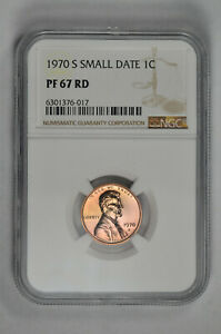 1970 S Small Date Proof 1C Lincoln Memorial Cent NGC PF 67 RD