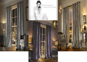Kylie Iliana Curtains - Designer Kylie Minogue Home Eyelet Ring Top Velvet Lined