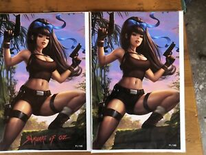 Samurai Of Oz 1 Tomb Raider Variant Cover Set Only 100 Sets Printed NM