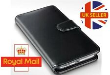 Black Leather Wallet Style Protective Book Case Phone Cover for Huawei P8 Lite