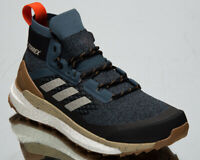 adidas Terrex Free Hiker Legacy Blue Metal Grey Raw Desert Men's Hiking Shoes