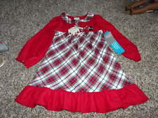 NWT NEW THE DISNEY STORE 4 MICKEY AND MINNIE MOUSE FLANNEL PLAID NIGHTGOWN PJS