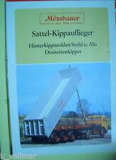 ✪Sales Brochures PROSPEKT Mössbauer Sattel-Kippauflieger Hinter & Dreiseiten