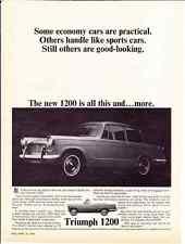 1964 TRIUMPH 1200  ~  RARE CLASSIC ORIGINAL AD