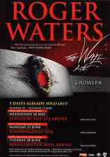 ROGER WATERS CONCERT 2011 THE WALL LIVE GIG TOUR FLYER
