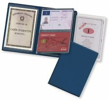porta documenti patente carta d'identità soldi carte di credito card 13,2 x 9,4