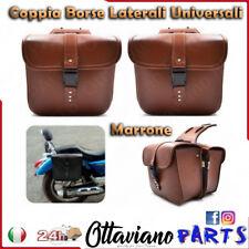 Borse laterali pelle moto custom Harley honda yamaha suzuki guzzi bisacce M24