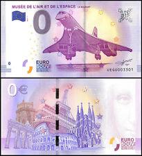 Zero (0) Euro Europe,2017 - 1 1st Print, UNC, Concorde Espace Le Bourget,France