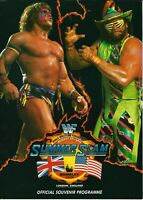 ULTIMATE WARRIOR / RANDY SAVAGE WWF WWE SUMMERSLAM 1992 PROGRAMME WEMBLEY