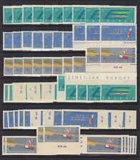 Poland 1961 Stamp CANOE EUROPA CUP Mi#1254/56 A+B Full set x10 - Unused MNH Luxe