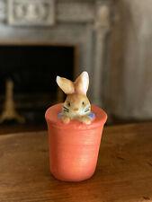 Vintage Miniature Dollhouse Artisan Porcelain France Baby Peter Rabbit Figurine