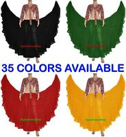 Chiffon Gypsy Skirt 4 Tier 25 Yard Skirts Tribal Belly Dance Röcke Oriental Jupe