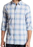 New with Tag - $225 VINCE. Melrose Cotton & Linen White/Blue Trim Fit Shirt 2XL