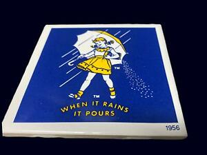 Morton Salt Trivet TIle 1956 Advertising Reproduction