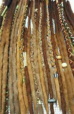 Wool Dreadlocks Custom Wool Dreads set of 30 Single Ended 18-22 inch total