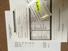 Dot Truck, Trailer Inspection forms stickers 10 Sets w Inspector Certification