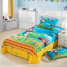 Kids Bedding Cartoon Super Mario Bros Set of 3pcs Sheet Quilt Cover Pillowcase