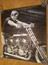 RFK Chopper Poster Motorcycle Pin-up Robert Kennedy 1970's Bob Dara Ethel 70's