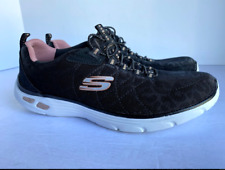 Skechers Women's Relaxed Fit Memory Foam Air Cooled  Black Shoes Size 7.5