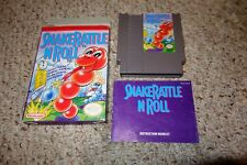 Snake Rattle 'n' Roll (Nintendo Entertainment System NES, 1991) Complete GREAT