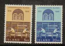 ICELAND SG453/4 1968 NATIONAL LIBRARY MNH