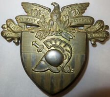 old Army Cadet West Point SHAKO HELMET PLATE hat badge US Military Academy USMA